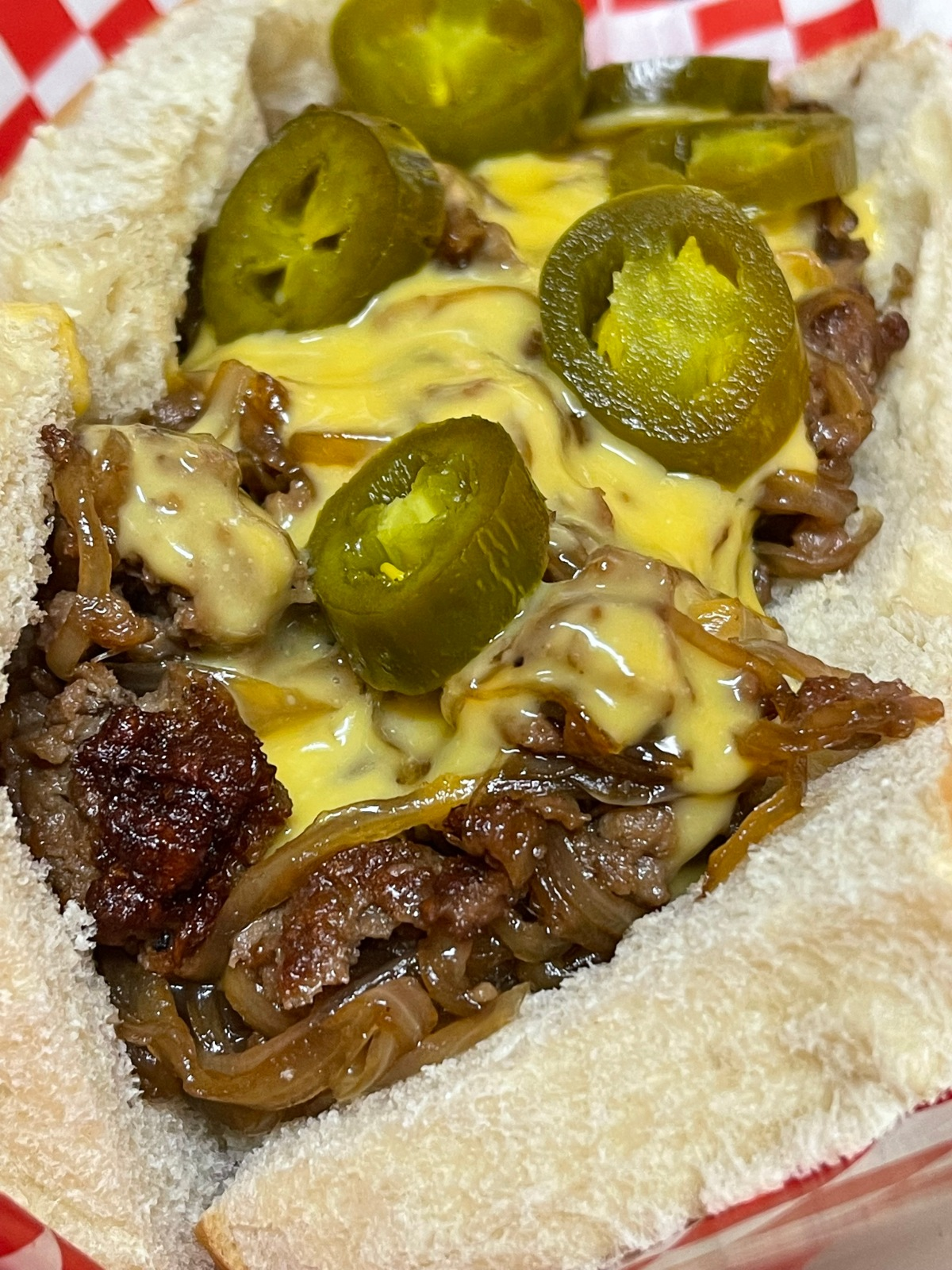 Cheesesteaks With CaramelizedOnions