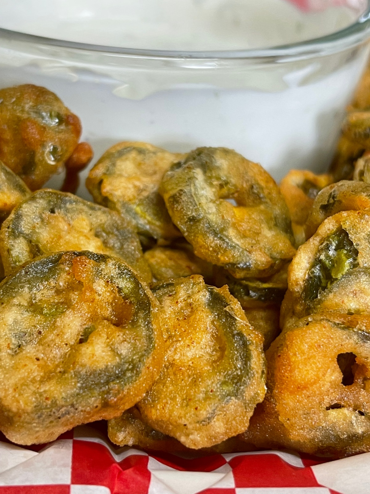 Fried Pickled Jalapeños with Sour CreamRanch