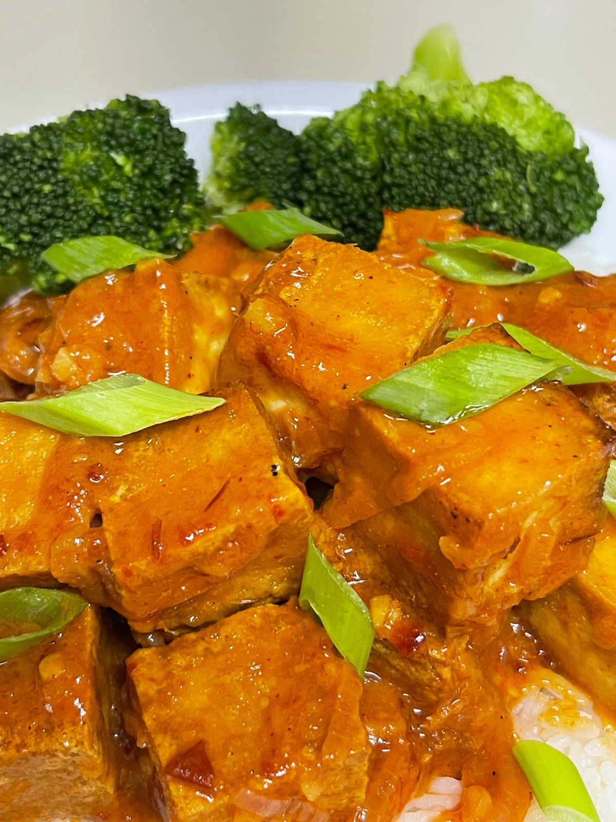 Spicy Tofu with Creamy CoconutSauce