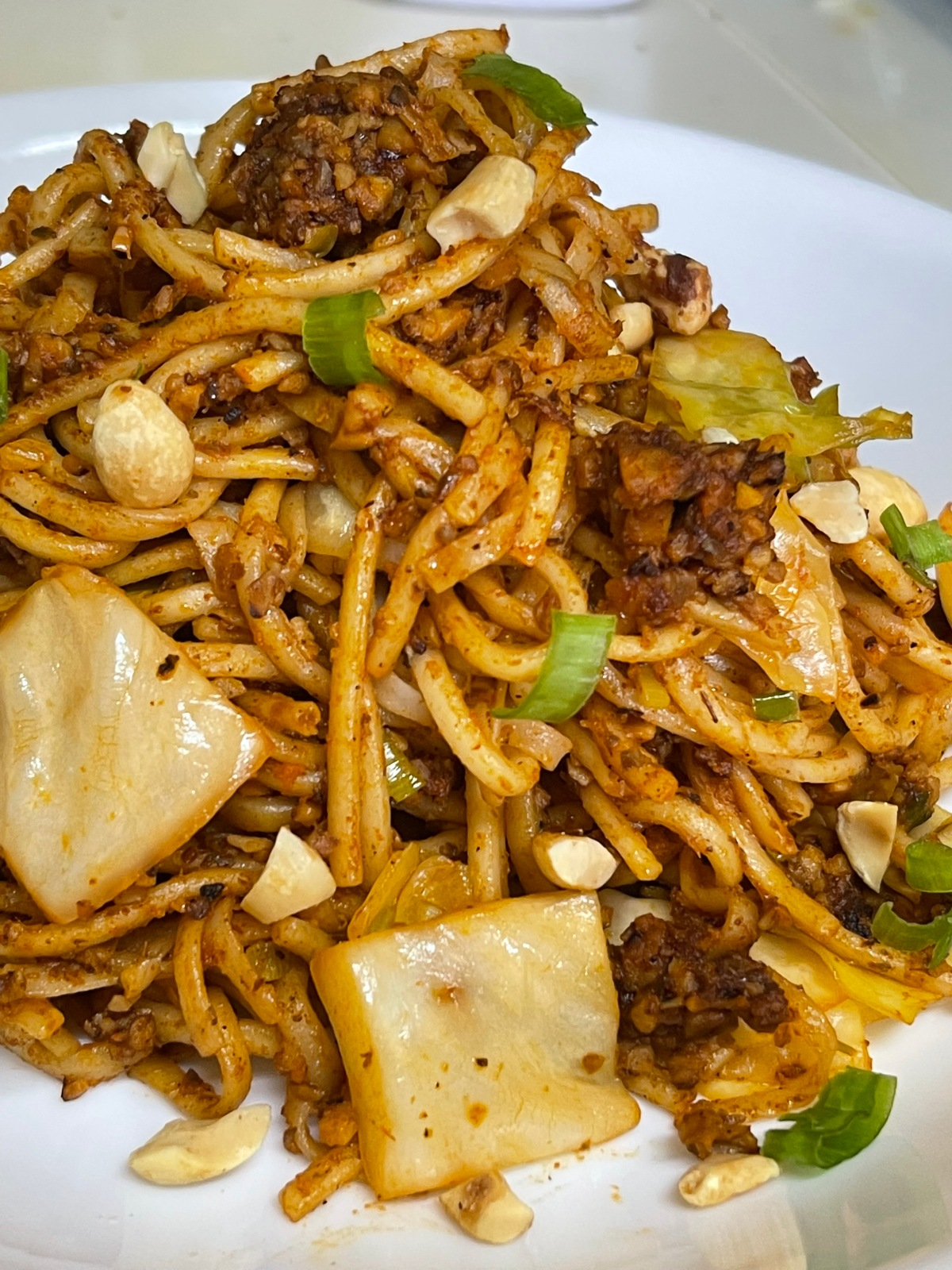Spicy Udon Stir-Fry With Ground &Cabbage