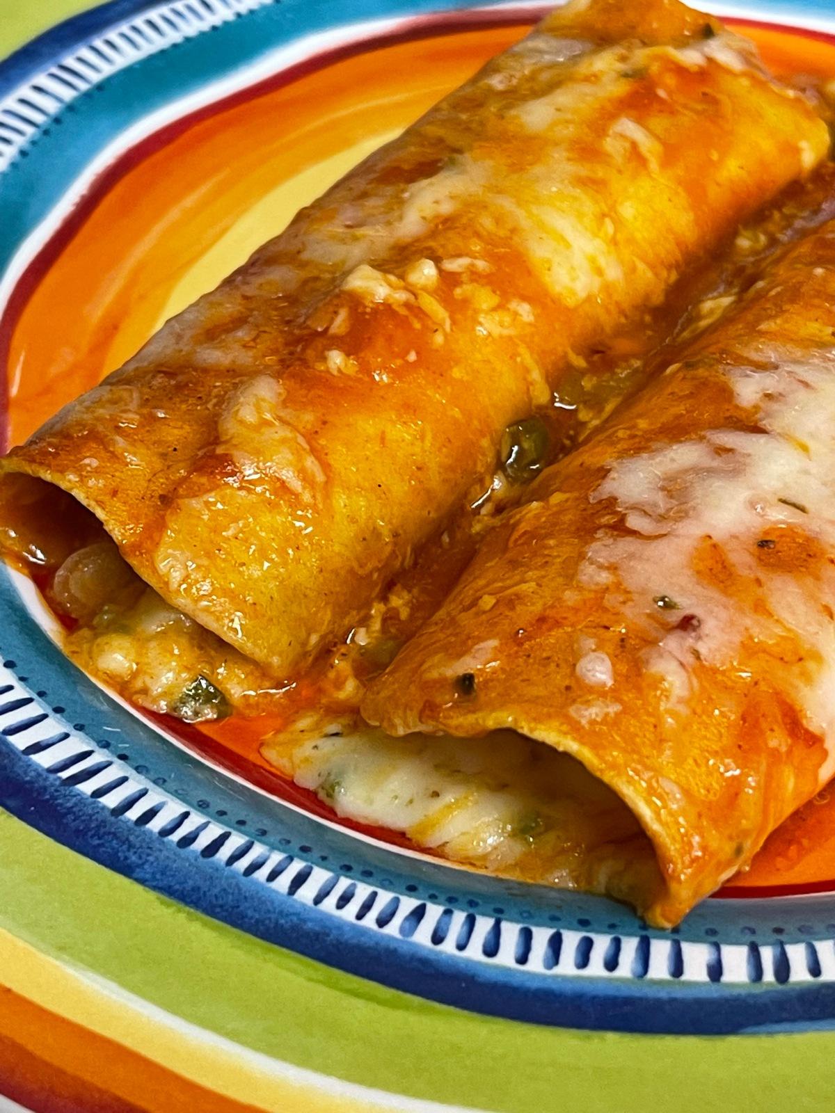 Three-Cheese Enchiladas