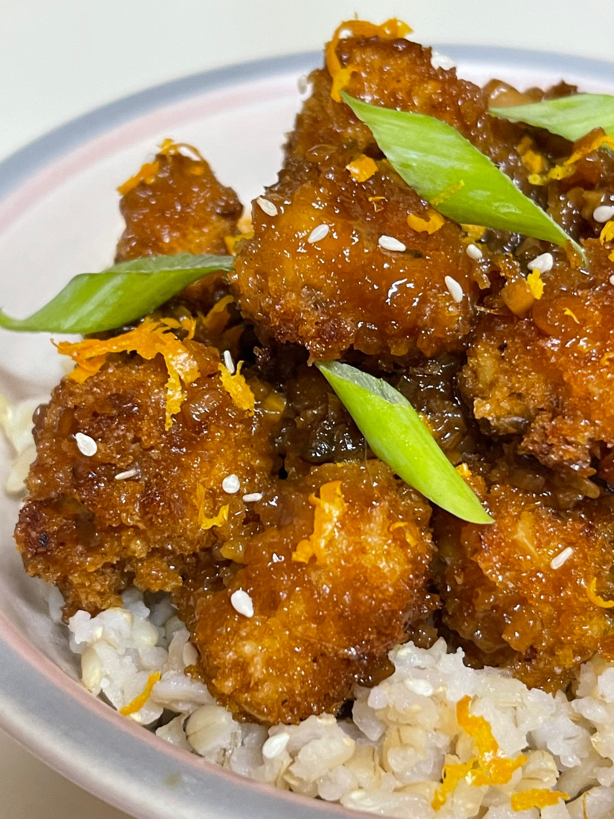 Orange-Glazed Crispy Tofu